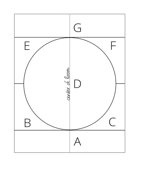 Template to weave a circle shape