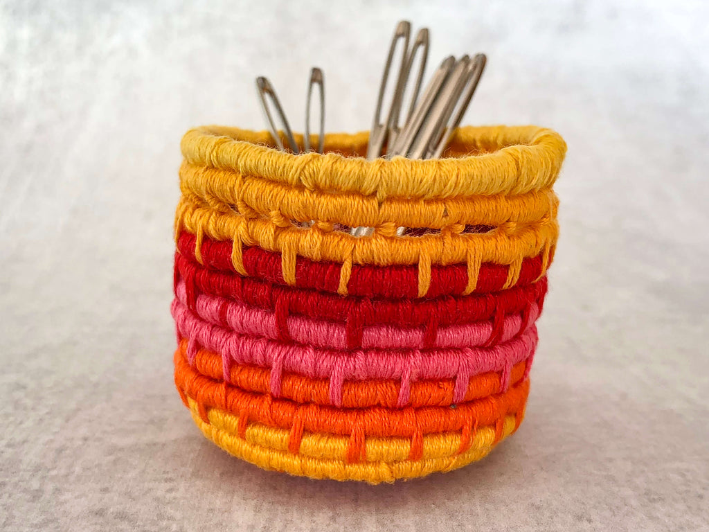 miniature coiled basket