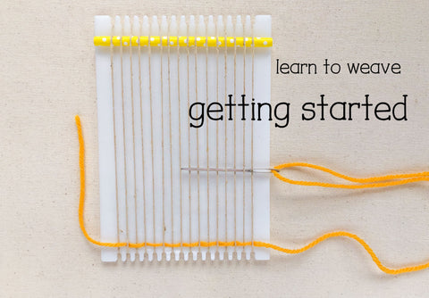 Learn to weave on a frame loom, getting started