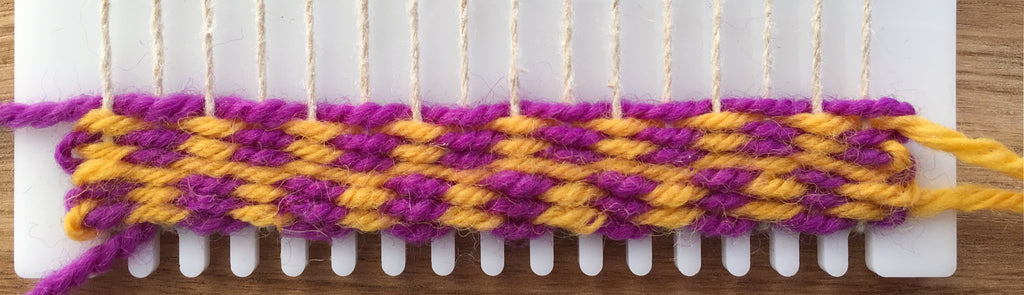 weaving a new set of checker pattern