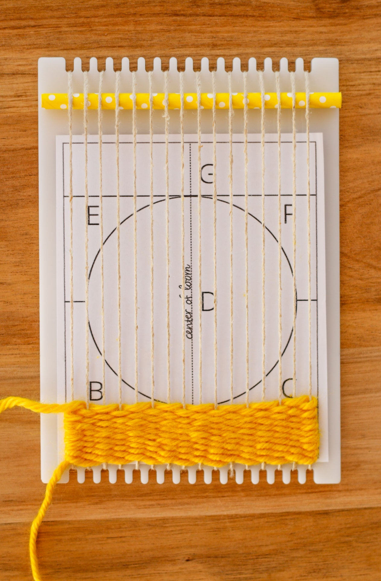 Weaving part A of circle shape