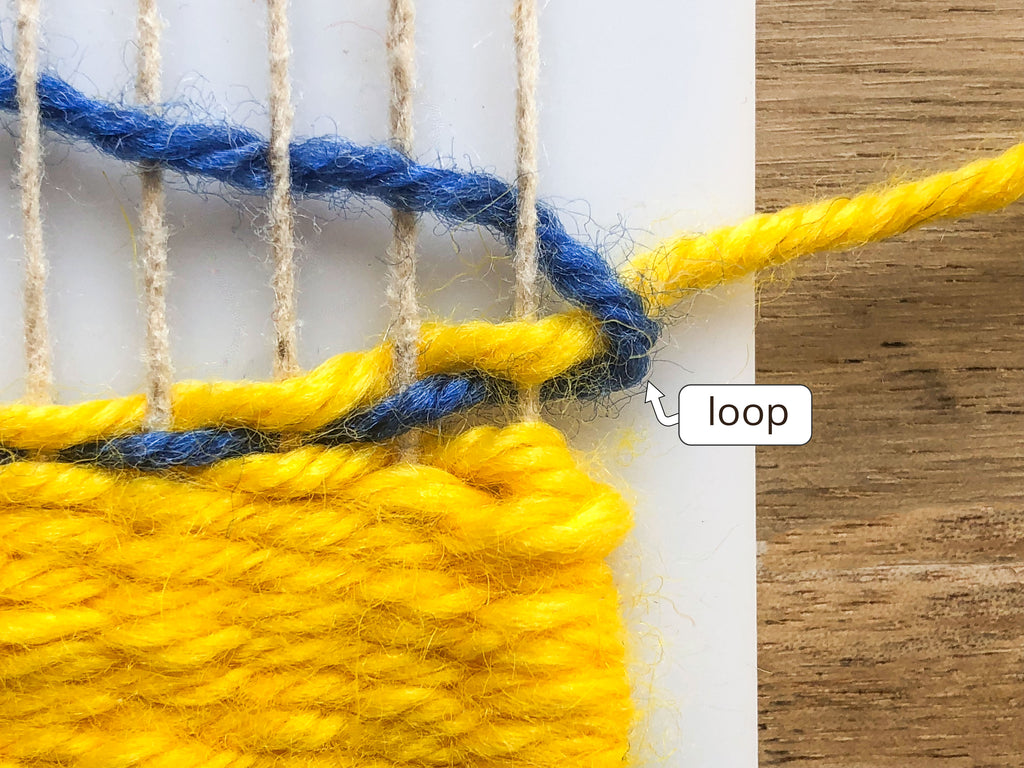 How to weave with two yarns