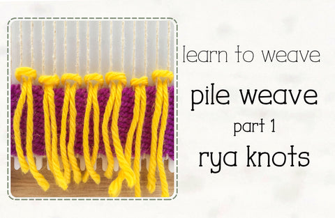 learn to weave rya knots