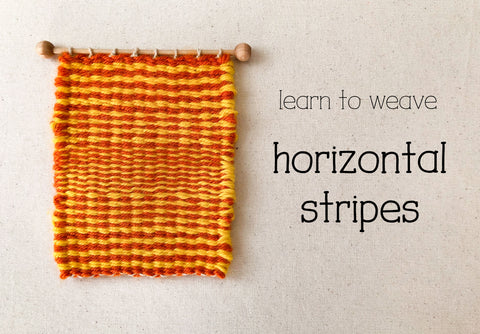 learn to weave horizontal stripes