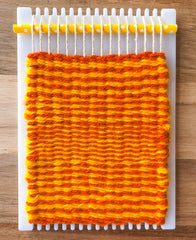 How to weave horizontal stripes on a little loom