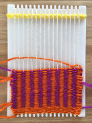 Weaving Pick and Pick on a little loom