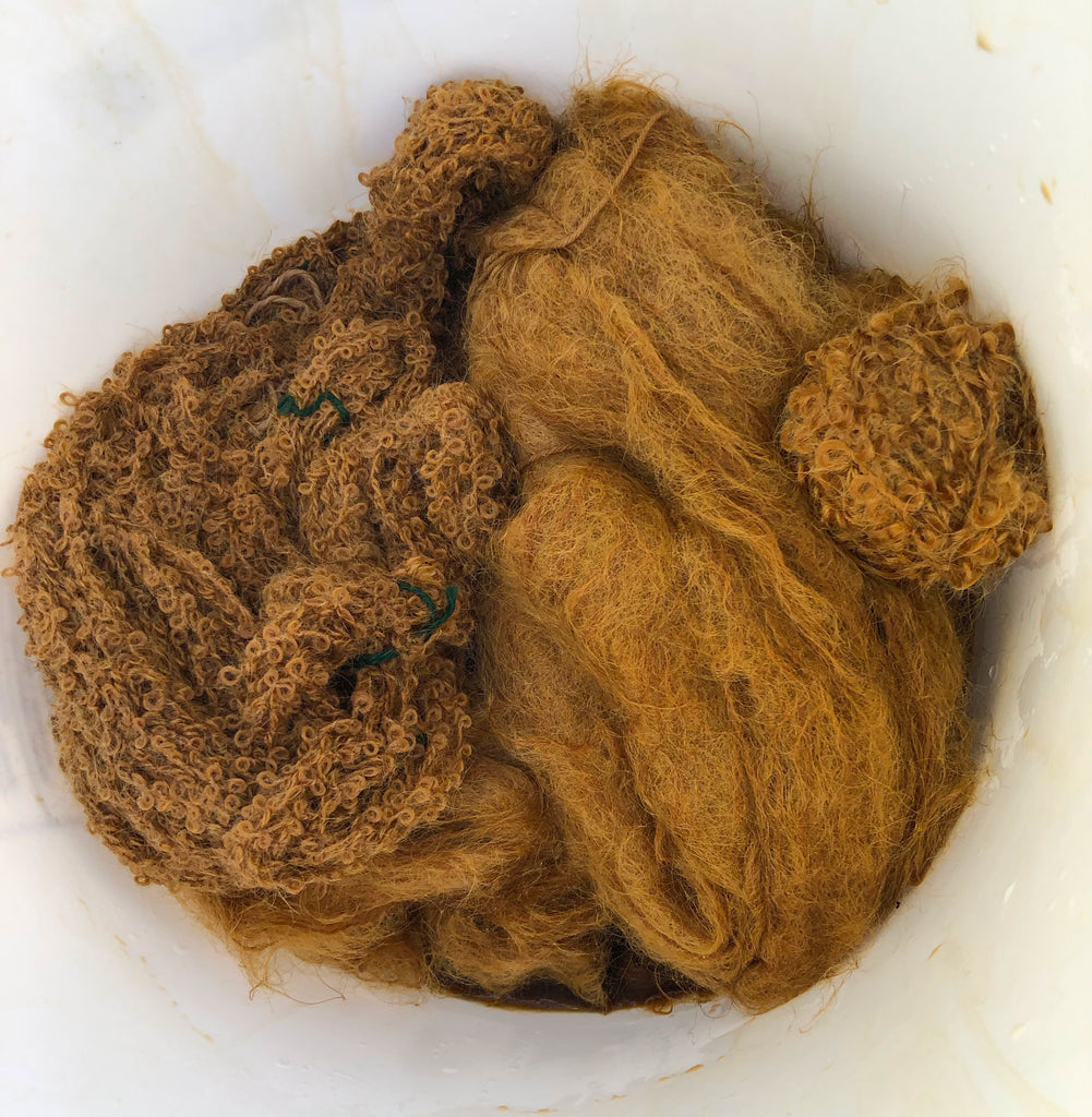 wool dyed in coffee
