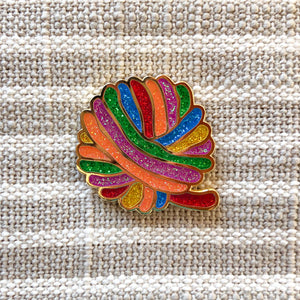 Enamel Pin - Rainbow Ball of Yarn