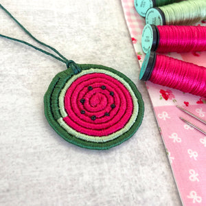 Silk Coiled Pendant Kit - Watermelon
