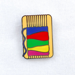 Enamel Pin - Loom - Silver Finish