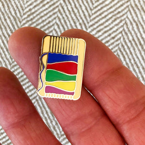 Enamel Pin - Loom - Gold Finish