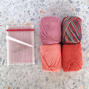 Kid's Weaving Kit - Muted Rose