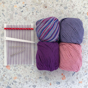 Kid's Weaving Kit - Purple Shades