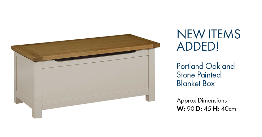 Portland Painted Blanket Box