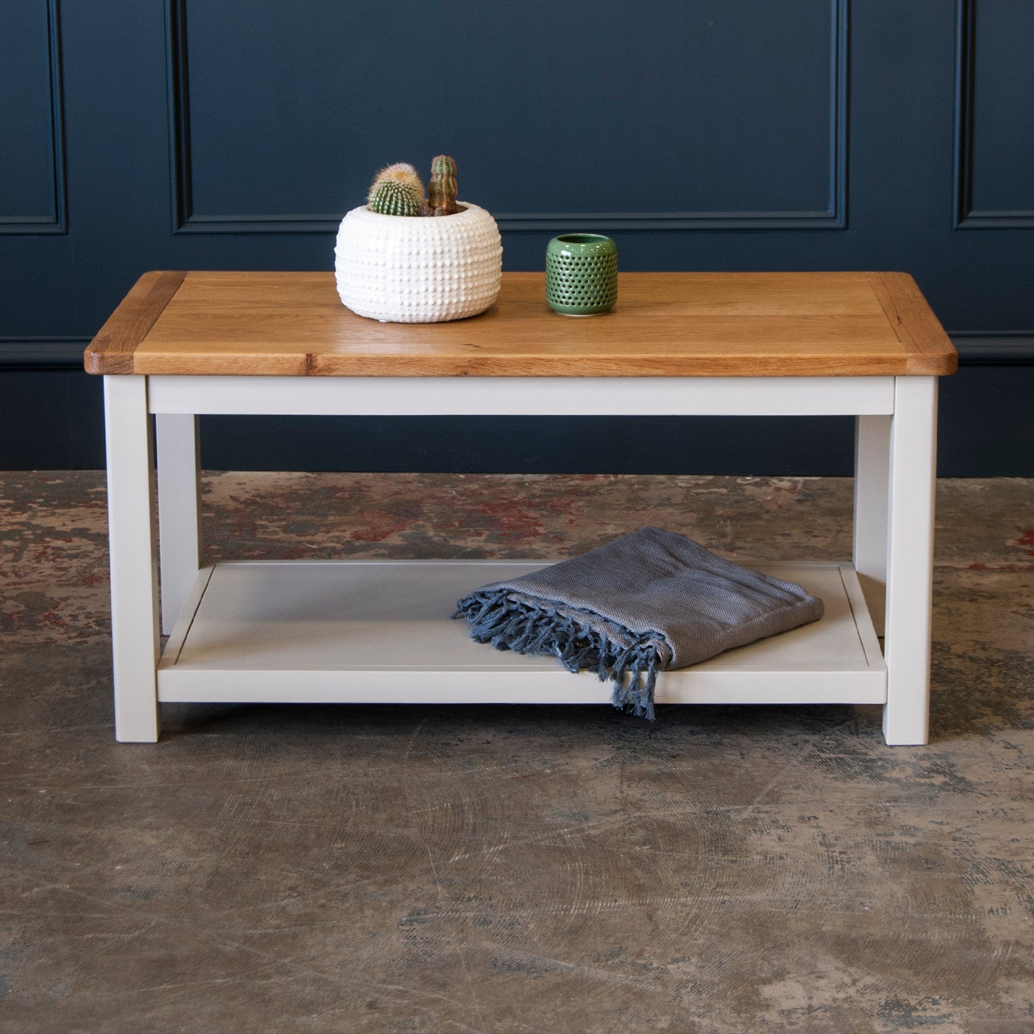 Portland Oak and Painted Coffee Table