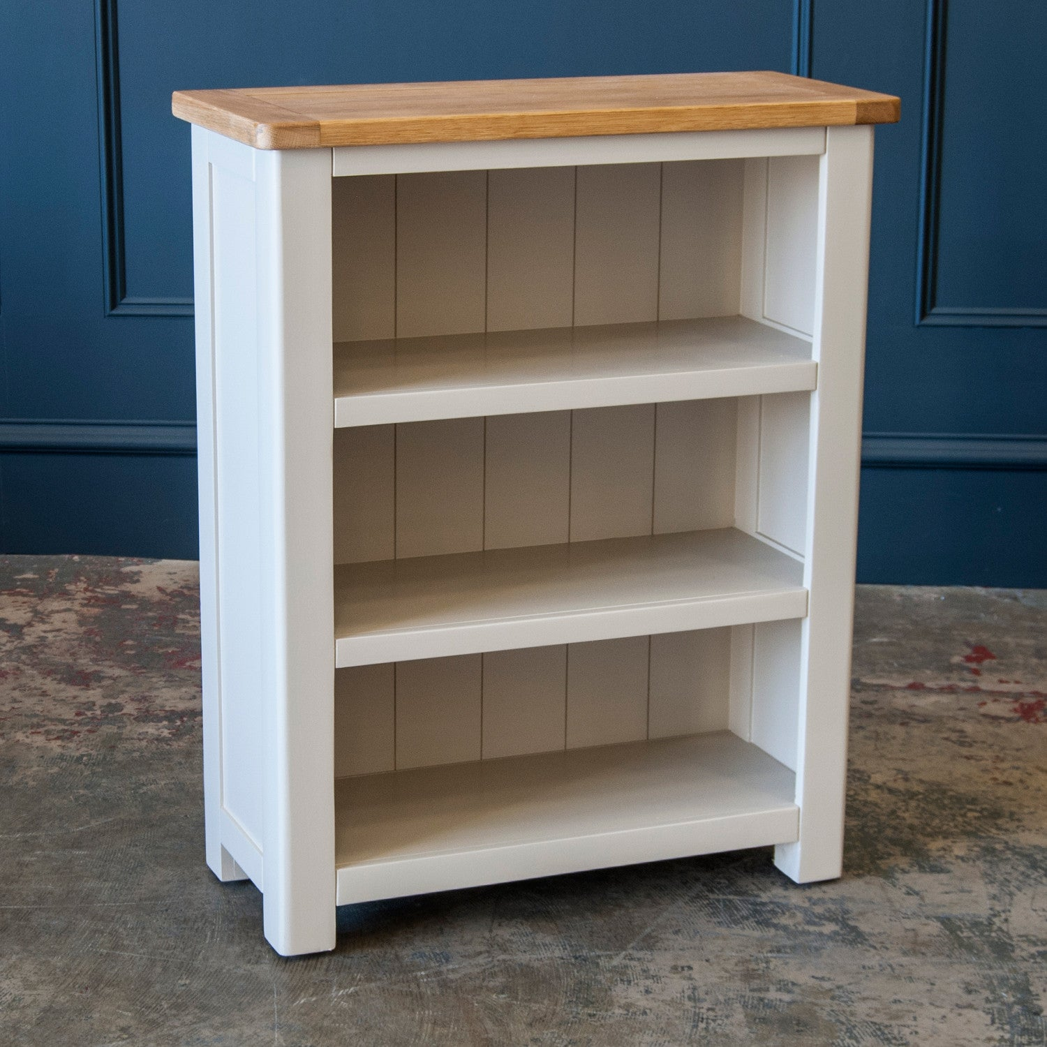 lacquered bookcase roseland london small solid products lightly oak furniture