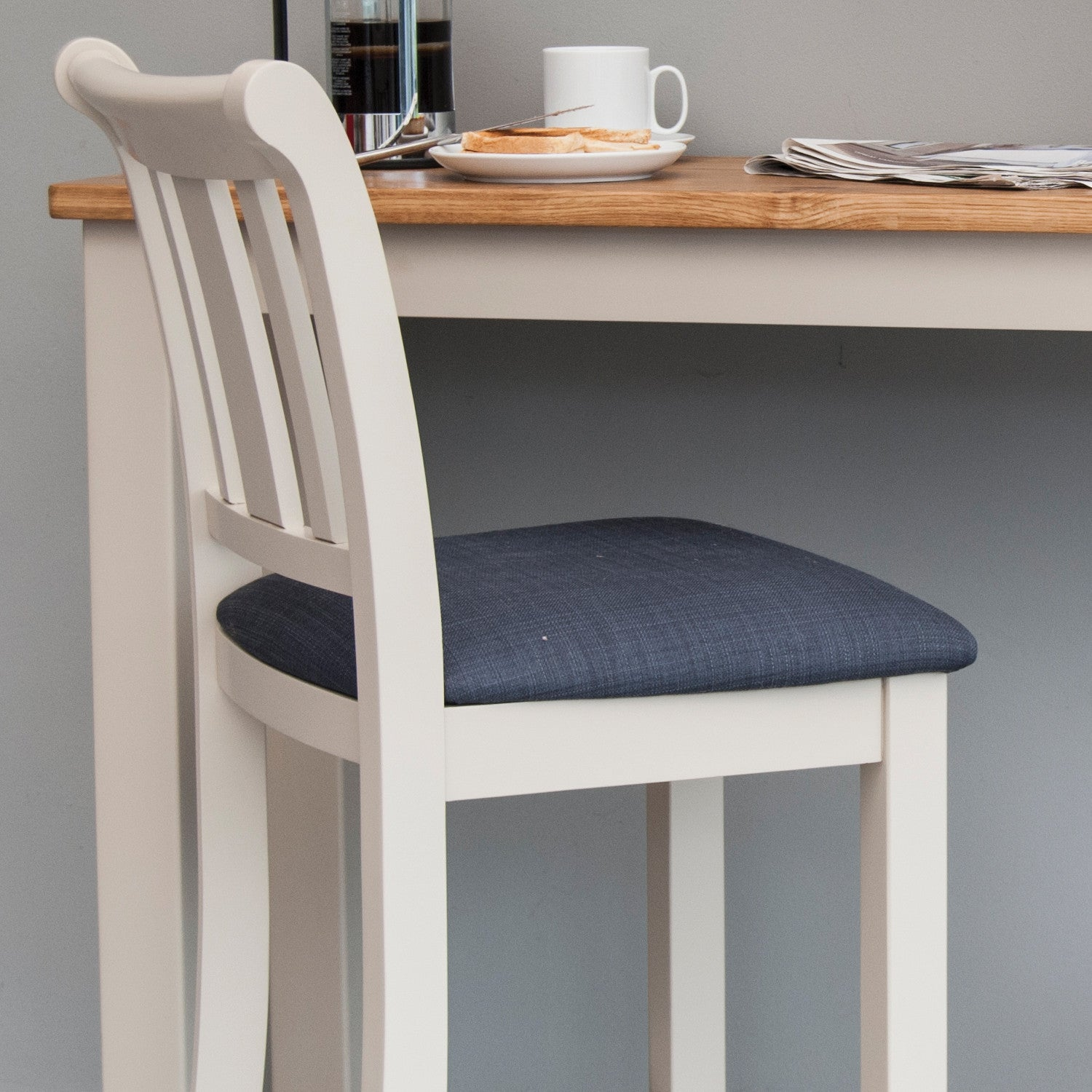 Portland Oak Painted Dining Table 4 Chairs Package Portland