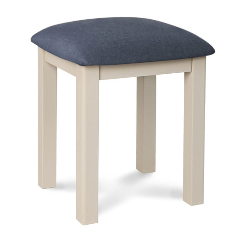 Portland Oak & Stone Painted Dressing Table Stool