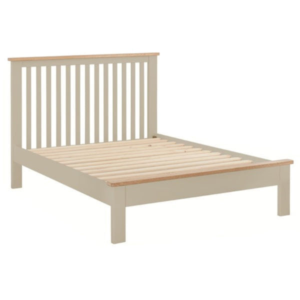 Portland Oak & Pebble Painted Bed - 5ft (150cm) Kingsize Bed