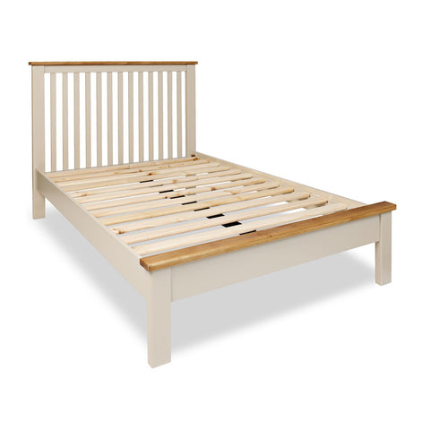 Portland Oak & Stone Painted Bed - 3ft (90cm) Single Bed
