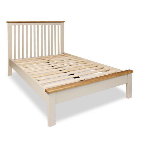 Portland Oak & Stone Painted Bed - 4ft6