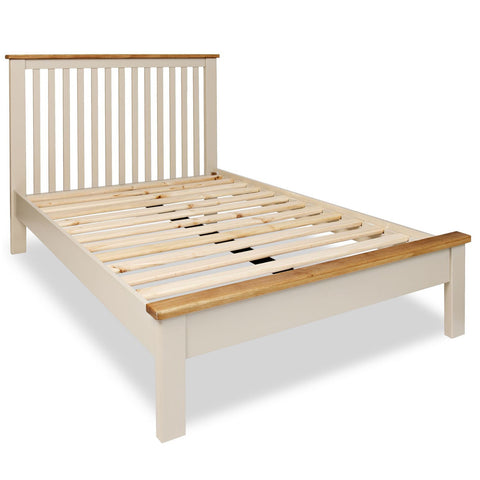 Portland Oak & Stone Painted Bed - 5ft (150cm) Kingsize Bed
