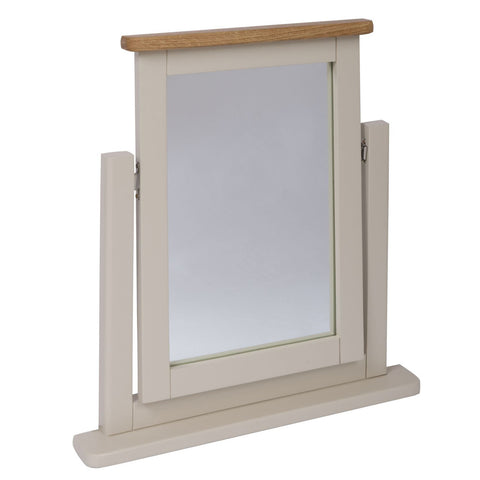 Portland Oak & Stone Painted Dressing Table Mirror