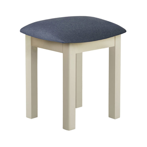 Portland Oak & Cream Painted Dressing Table Stool