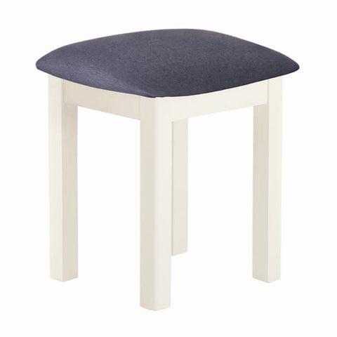 Portland Oak & White Painted Dressing Table Stool