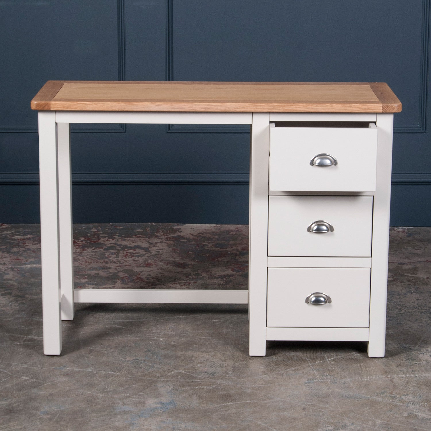 Portland Oak And Painted Dressing Table