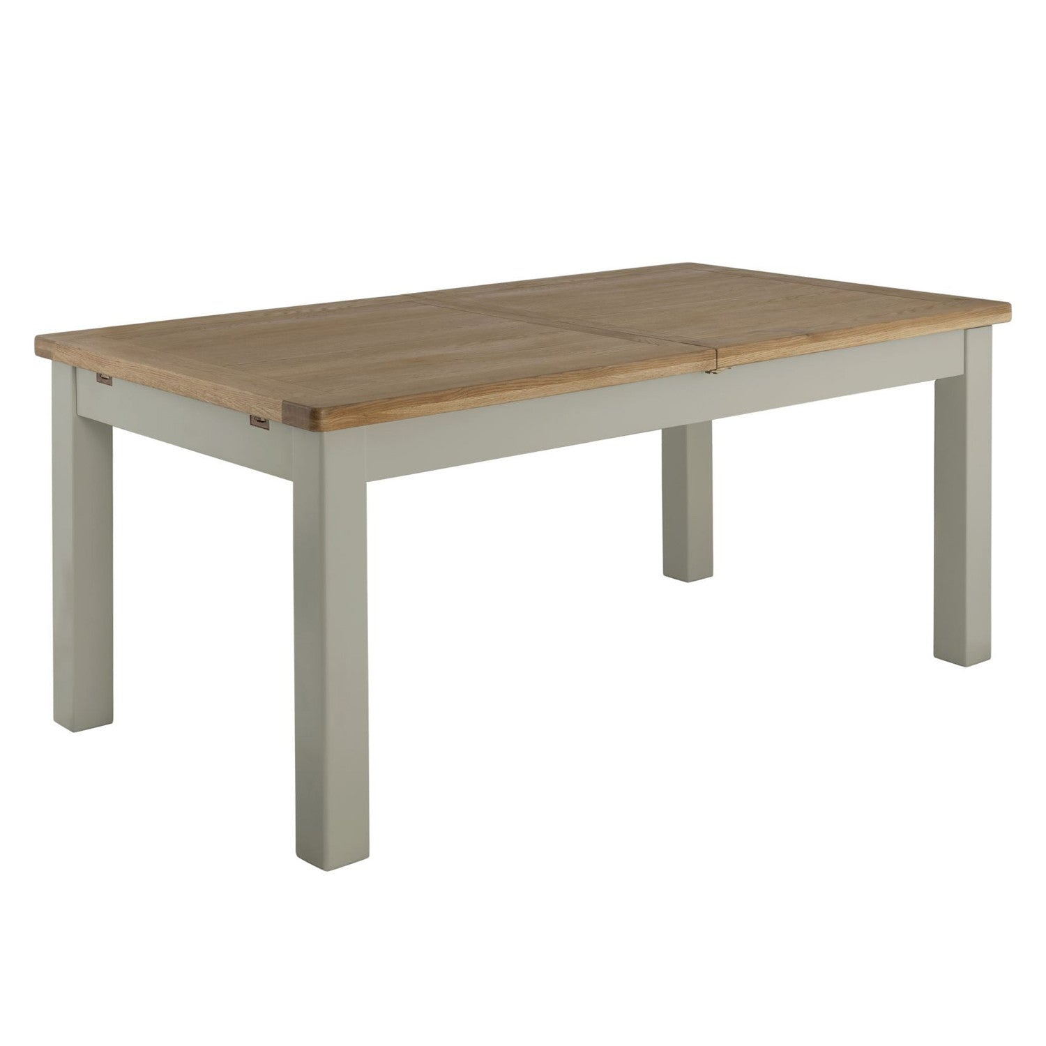 Prime Portland Oak And Painted Extending Dining Table Beutiful Home Inspiration Xortanetmahrainfo