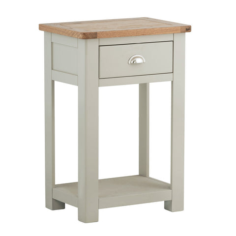 Portland Oak and Painted 1 Drawer Console Table