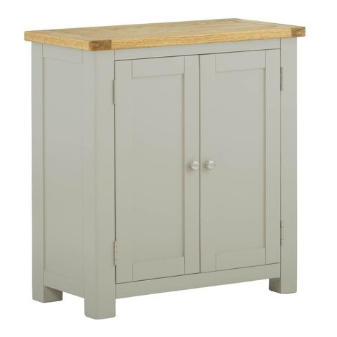 Portland Oak & Painted 2 Door Cupboard