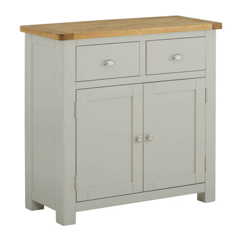 Portland Oak and Painted 2 Door 2 Drawer Sideboard