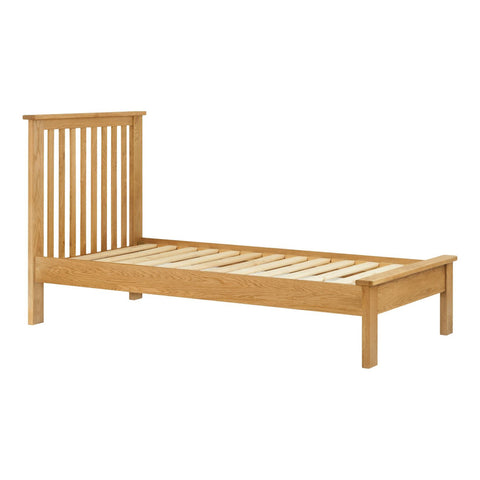 Portland Oak Bed - 3ft (90cm) Single Bed