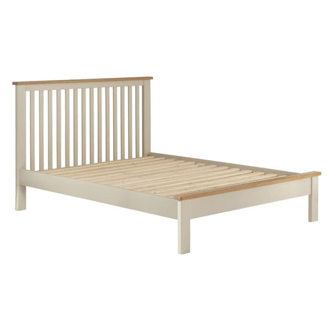 Portland Oak & Cream Painted Bed - 4ft6