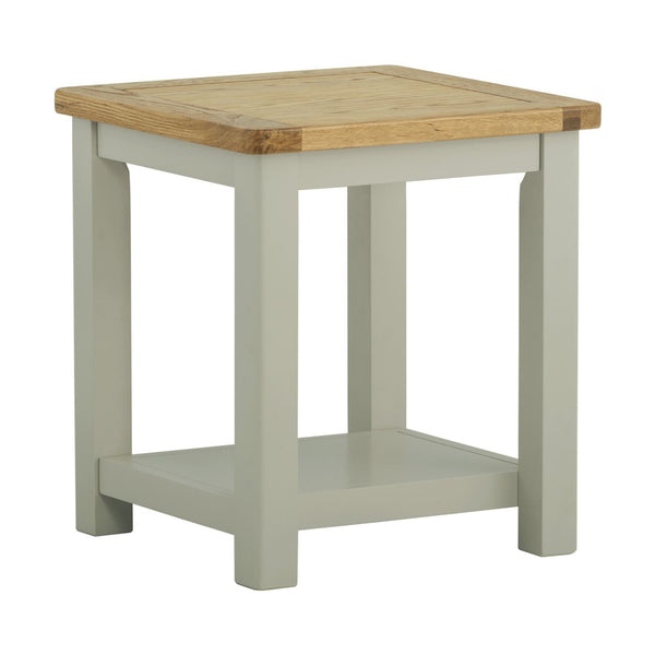 Portland Oak and Painted Lamp Table