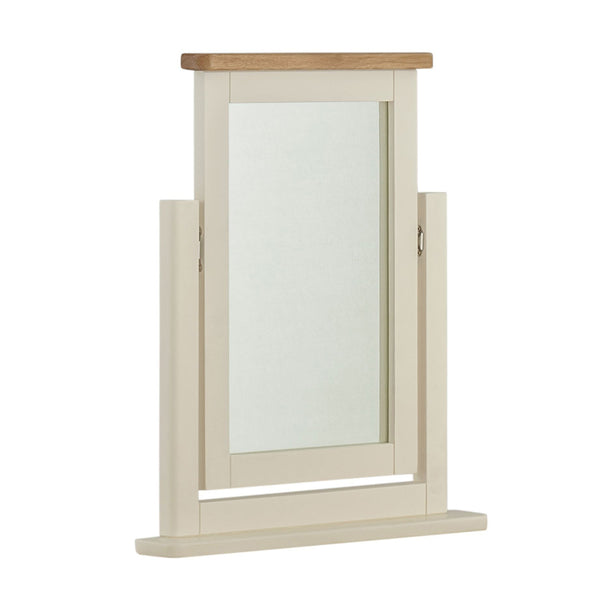 Portland Oak & Cream Painted Dressing Table Mirror