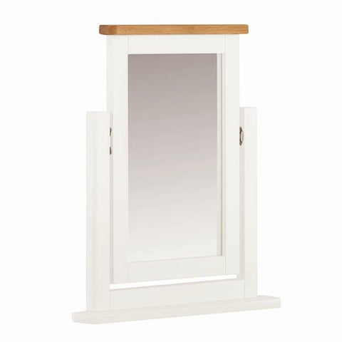Portland Oak & White Painted Dressing Table Mirror