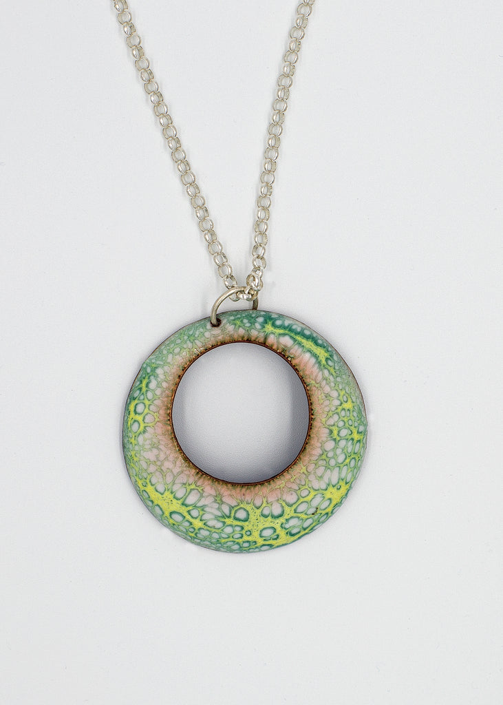 Crackle Enamel Pendant