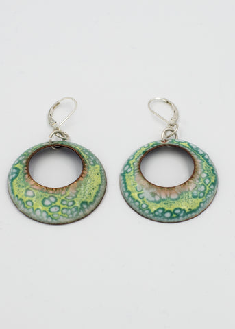 Crackle  Enamel Earrings