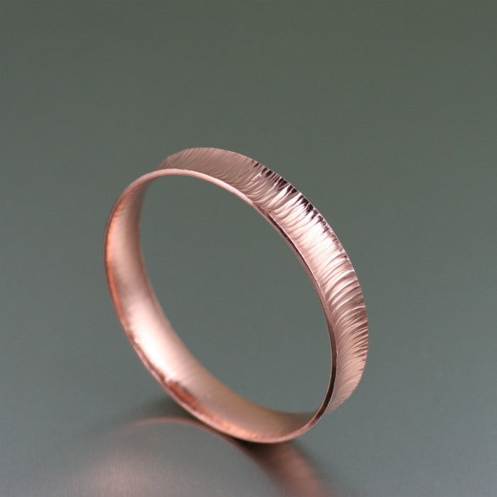 Chased Anticlastic Copper Bangle Bracelet