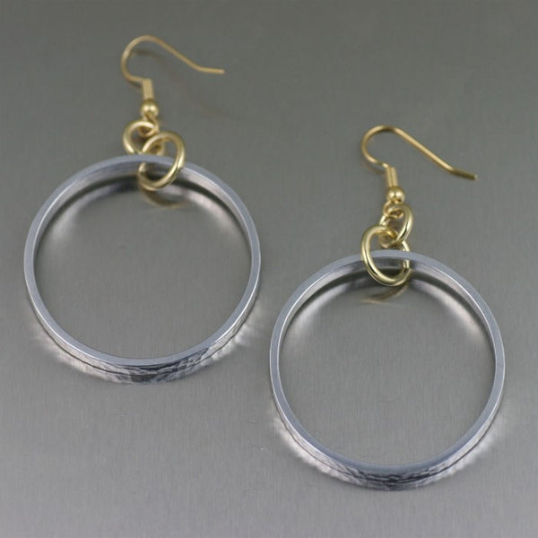 Hammered Hoop Aluminum Earrings