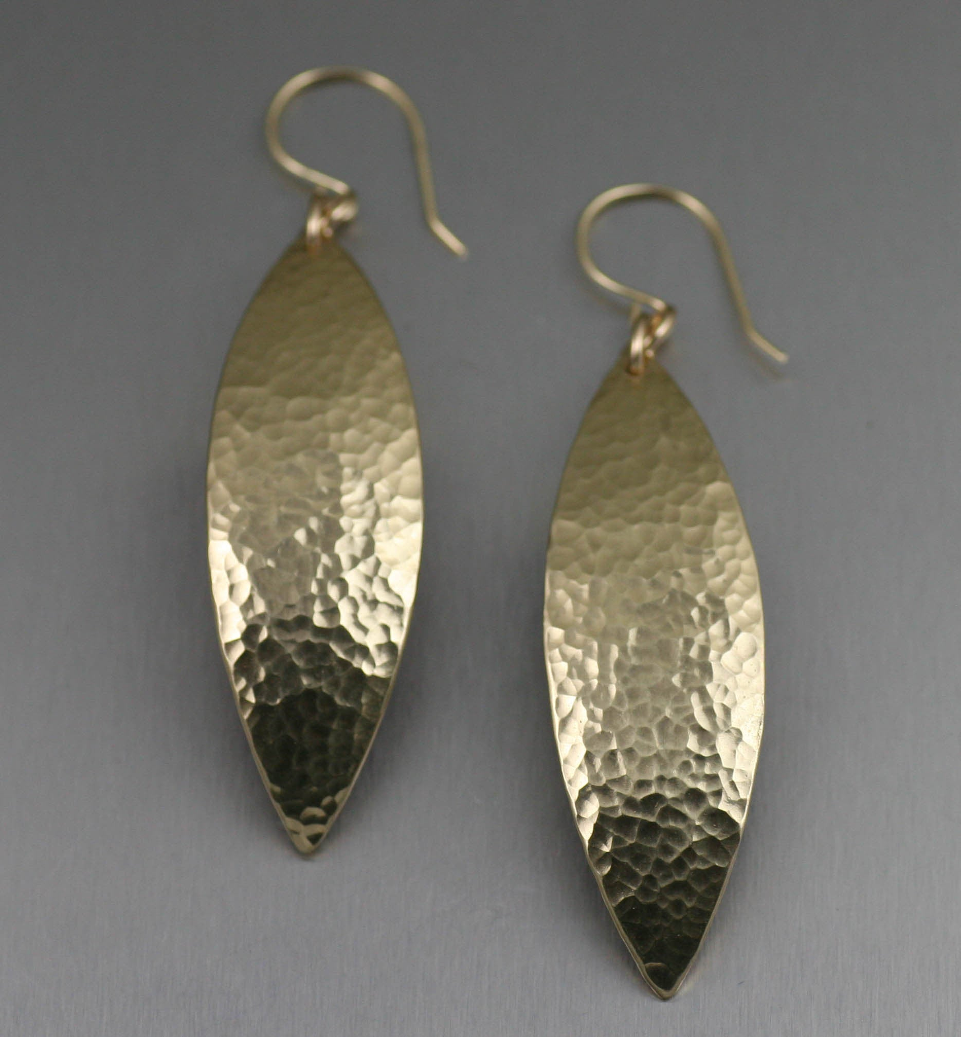 60% OFF Hammered Nu Gold Leaf Earrings NOW Through 10/31/15 on Amazon
