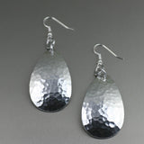 Large Hammered Aluminum Tear Drop Earrings