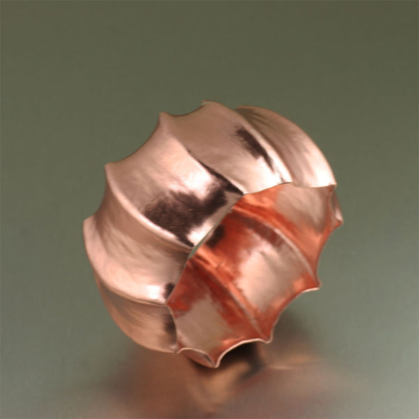 Scalloped Copper Bangle Bracelet