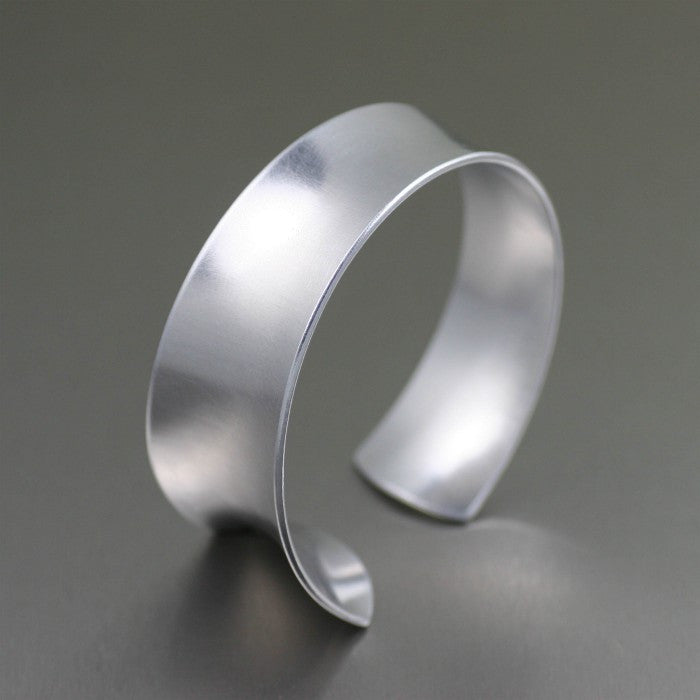 Tapered Brushed Anticlastic Aluminum Bangle Bracelet