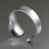 Tapered Hammered Anticlastic Aluminum Bangle Bracelet