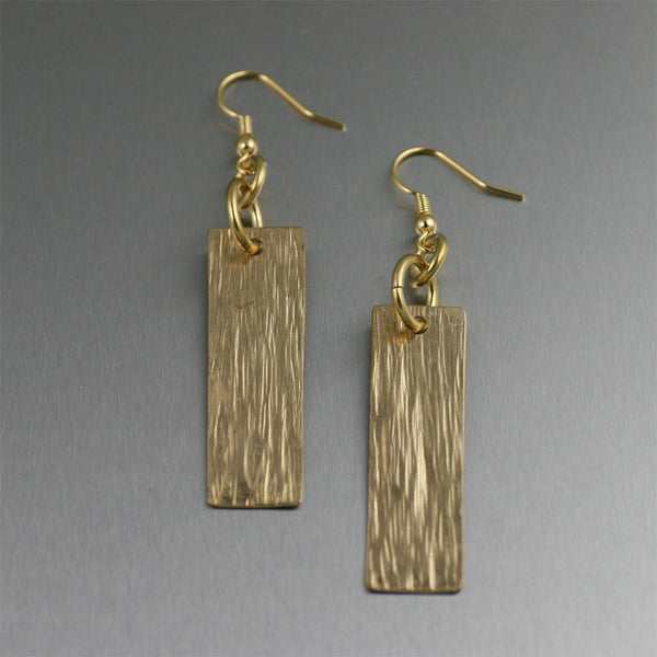 Nu Gold Bark Drop Earrings from John S Brana Handmade Jewelry