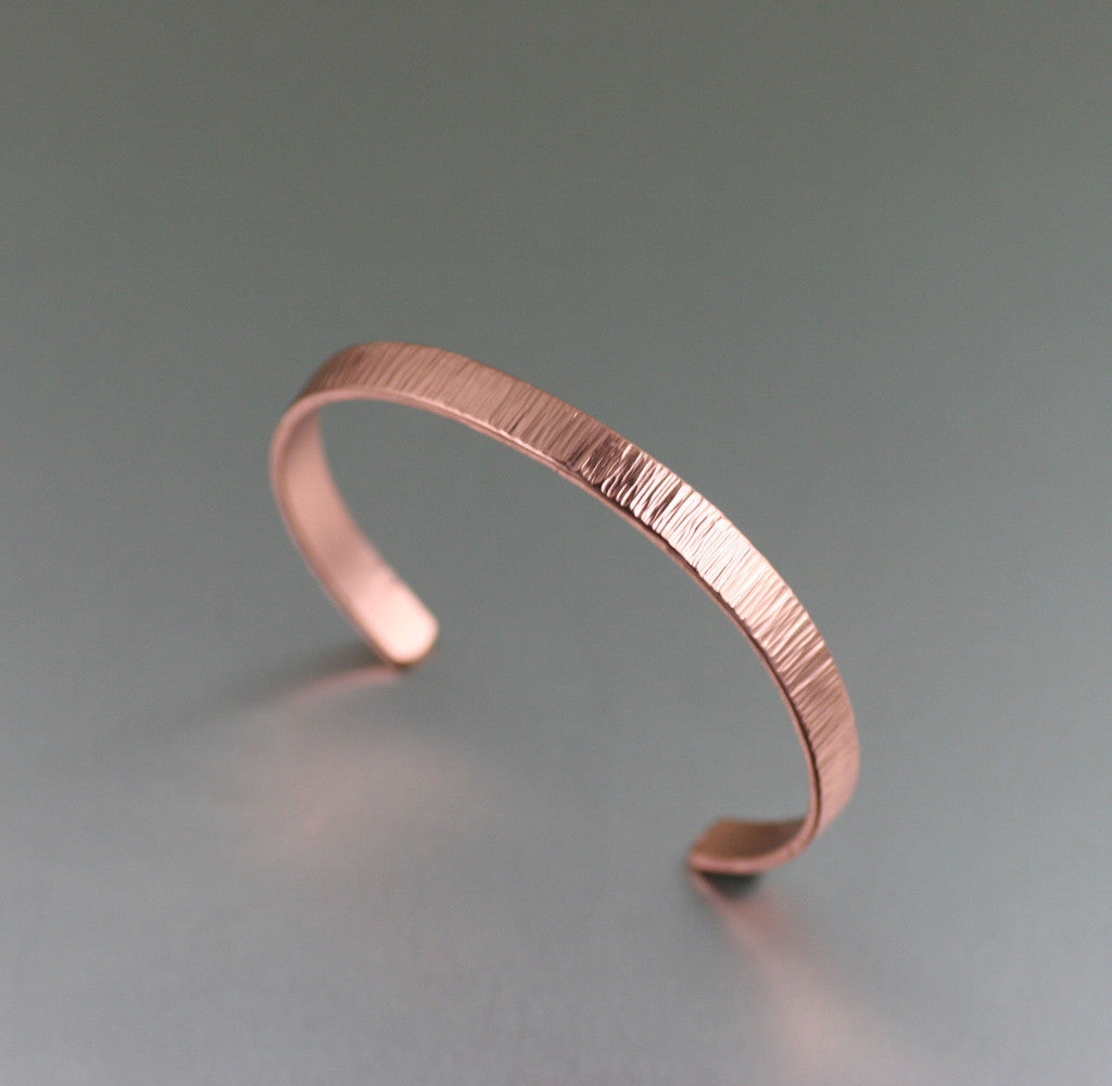 Chased Copper Cuff Bracelet from John S Brana Handmade Jewelry